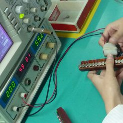 Vibration Motor Factory Production Line - COIN VIBRATOR MOTORS BEING TESTED