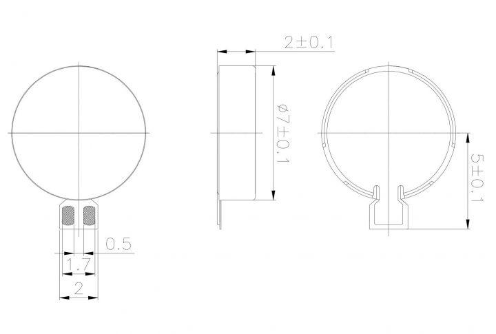 C0720B003D Coin Vibration Motor Mechanical Drawing