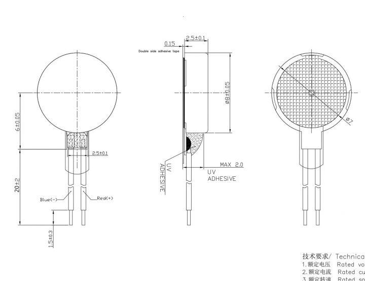 W0825AB001G mechanical drawing