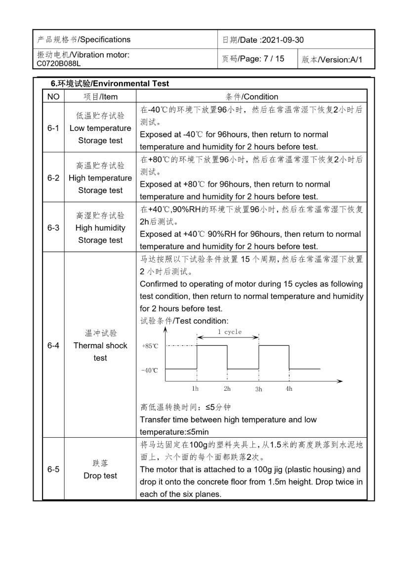 C0720B088L FPC Coin Vibration Motor 07